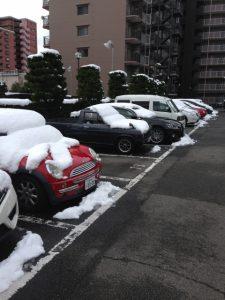 冬の駐車場